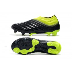 Adidas Copa 19 FG Laceless Football Boots Black Green