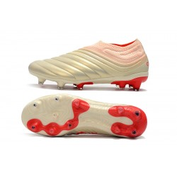 Adidas Copa 19 FG Laceless Football Boots Champagne Red