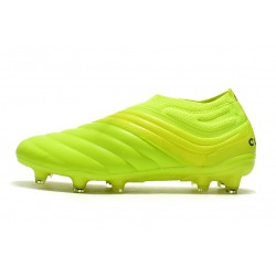 Adidas Copa 19 FG Laceless Football Boots Fluo Green