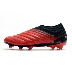 Adidas Copa 19 FG Laceless Football Boots Red Black