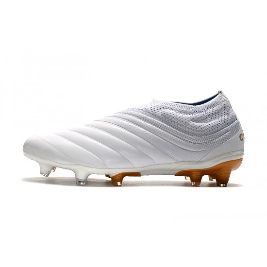 Adidas Copa 19 FG Laceless Football Boots White Golden