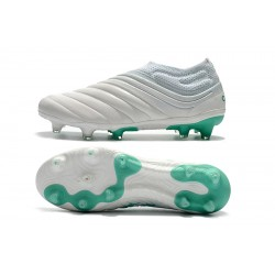 Adidas Copa 19 FG Laceless Football Boots White Green