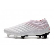 Adidas Copa 19 FG Laceless Football Boots White Pink Red