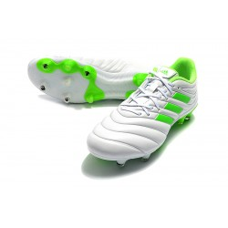Adidas Copa 19.4 FG Football Boots White Green