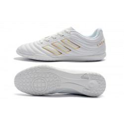 Adidas Copa 19.4 IC Football Boots White Golden