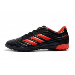 Adidas Copa 19.4 TF Football Boots Leather Black Red
