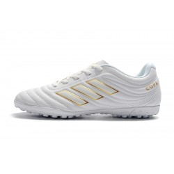Adidas Copa 19.4 TF Football Boots White Golden