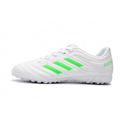 Adidas Copa 19.4 TF Football Boots White Green
