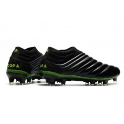 Adidas Copa 20+ FG Football Boots Black Green