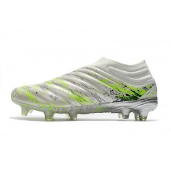 Adidas Copa 20+ FG Football Boots White Volt Green Black