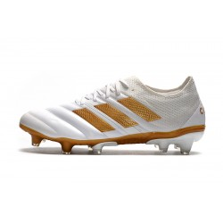 Adidas Copa 20.1 FG Football Boots Knitting Low White Golden