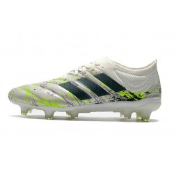 Adidas Copa 20.1 FG Football Boots White Black Green