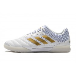 Adidas Copa 20.1 IN Football Boots Knitting MD White Golden