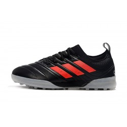Adidas Copa 20.1 TF Football Boots Knitting MD Black Red Grey