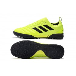 Adidas Copa 20.1 TF Football Boots Knitting MD Fluo Green Black
