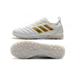 Adidas Copa 20.1 TF Football Boots Knitting MD White Golden
