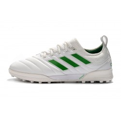 Adidas Copa 20.1 TF Football Boots Knitting MD White Green