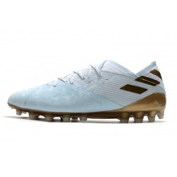 Adidas NEMEZIZ 19.1 AG Football Boots White Golden