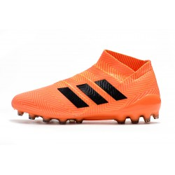 Adidas Nemeziz 18 AG Laceless Football Boots Orange Black