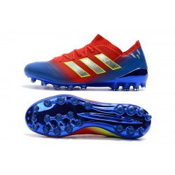 Adidas Nemeziz 18 AG Football Boots Red Blue Golden