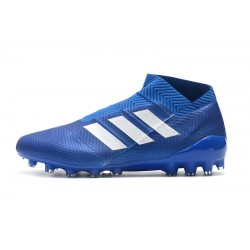 Adidas Nemeziz 18 AG Laceless Football Boots Royal Blue