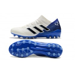 Adidas Nemeziz 18 AG Football Boots White Blue