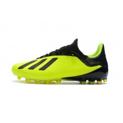 Adidas X 18.1 AG Football Boots Fluo Green Black