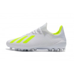 Adidas X 18.1 AG Football Boots White Green