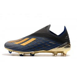 Adidas X 19 FG Laceless Football Boots Blue Black Golden