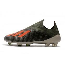 Adidas X 19+ FG Encryption Code Football Boots Army Green Orange