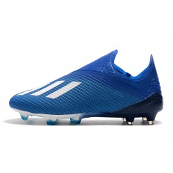 Adidas X 19+ FG Encryption Code Football Boots Blue White Black