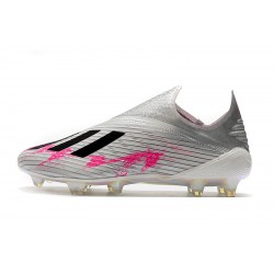 Adidas X 19+ FG Encryption Code Football Boots Metallic Silver Pink Black