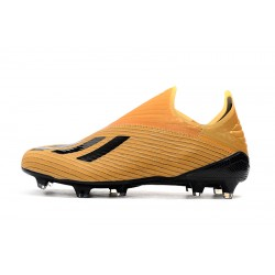 Adidas X 19+ FG Football Boots Black Yellow