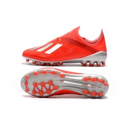 Adidas X 19.1 AG Football Boots Red Silver