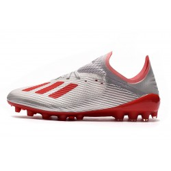 Adidas X 19.1 AG Football Boots Silver Red