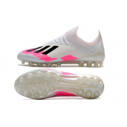 Adidas X 19.1 AG Football Boots White Pink Black