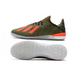 Adidas X 19.1 IC Football Boots Green Orange