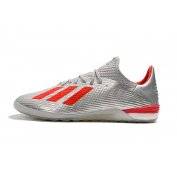Adidas X 19.1 IC Football Boots Silver Red