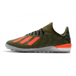 Adidas X 19.1 TF Football Boots Green Orange