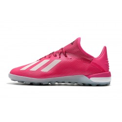 Adidas X 19.1 TF Football Boots Pink White