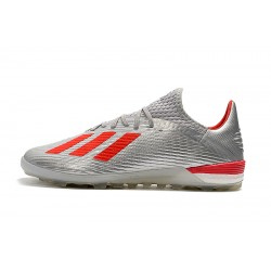 Adidas X 19.1 TF Football Boots Silver Red