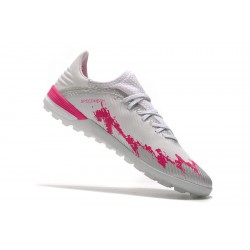 Adidas X 19.1 TF Football Boots White Pink Black
