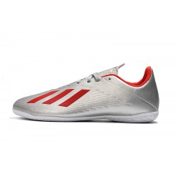 Adidas X 19.4 IC Football Boots Silver Red
