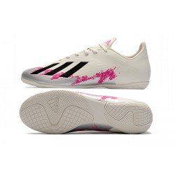 Adidas X 19.4 IC Football Boots White Black Pink