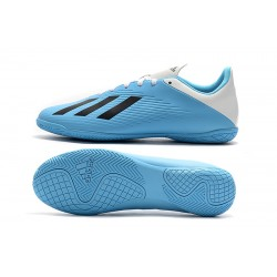 Adidas X 19.4 IC Football Boots White Blue Black