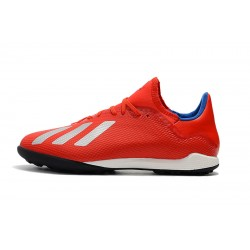 Adidas X Tango 18.3 TF Football Boots Red Silver Blue
