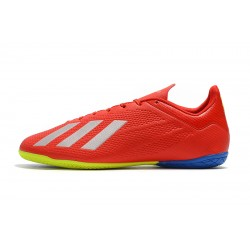 Adidas X Tango 18.4 IC Football Boots Red Silver