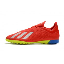 Adidas X Tango 18.4 TF Football Boots Red Silver