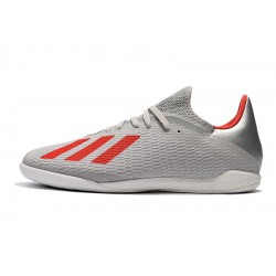 Adidas X Tango 19.3 IC Football Boots Silver Red