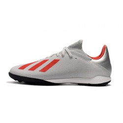 Adidas X Tango 19.3 TF Football Boots Silver Red White